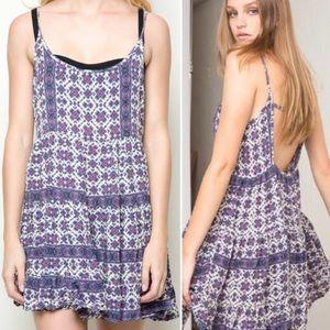 Brandy Melville • Jada Boho Floral Swing Dress.